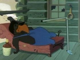 Screenshots from the 1959 Warner Brothers cartoon Backwoods Bunny