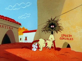Screenshots from the 1959 Warner Brothers cartoon Mexicali Shmoes