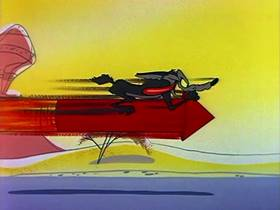 Screenshots from the 1959 Warner Bros. cartoon Wild About Hurry