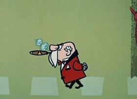 Screenshots from the 1959 Hanna-Barbera cartoon Runaway Bear, The