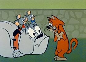 Screenshots from the 1959 Hanna-Barbera cartoon Puppet Pals