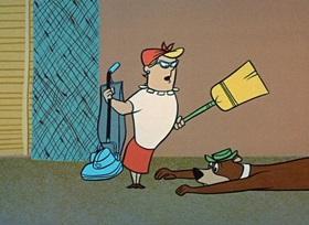 Screenshots from the 1959 Hanna-Barbera cartoon Be My Guest Pest