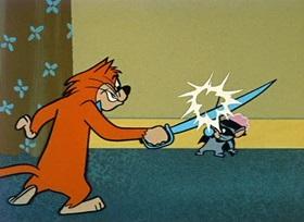 Screenshots from the 1959 Hanna-Barbera cartoon Mark of the Mouse