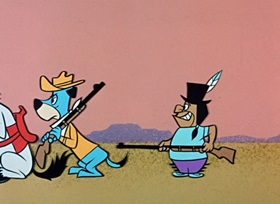 Screenshots from the 1959 Hanna-Barbera cartoon Hokum Smokum
