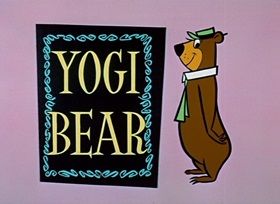 Screenshots from the 1959 Hanna-Barbera cartoon Brainy Bear