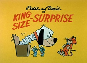 Screenshots from the 1959 Hanna-Barbera cartoon King-Size Surprise