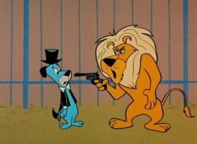 Screenshots from the 1959 Hanna-Barbera cartoon Lion Tamer Huck