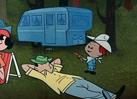 Screenshots from the 1959 Hanna-Barbera cartoon Daffy Daddy