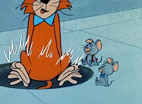 Screenshots from the 1959 Hanna-Barbera cartoon Mouse-Nappers