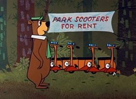 Screenshots from the 1959 Hanna-Barbera cartoon Scooter Looter