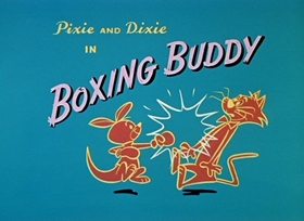 Screenshots from the 1959 Hanna-Barbera cartoon Boxing Buddy