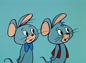 Screenshots from the 1959 Hanna-Barbera cartoon Boxing Buddy