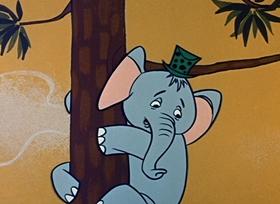 Screenshots from the 1959 Hanna-Barbera cartoon Hide and Go Peek