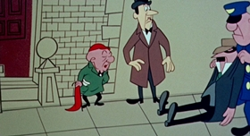 Screenshots from the 1959 UPA cartoon Magoo