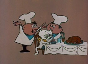 Screenshots from the 1959 Jay Ward Productions cartoon Puss and Boots