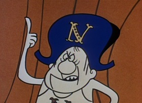 Screenshots from the 1959 Jay Ward Productions cartoon Napoleon