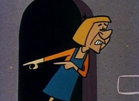 Screenshots from the 1959 Jay Ward Productions cartoon King Arthur