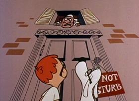 Screenshots from the 1959 Jay Ward Productions cartoon Franz Schubert
