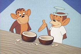 Screenshots from the 1960 Walter Lantz cartoon Jungle Medics