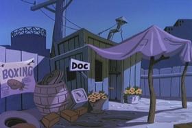 Screenshots from the 1960 Walter Lantz cartoon Freeloading Feline