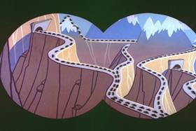 Screenshots from the 1960 Walter Lantz cartoon Hunger Strife