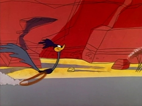 Screenshots from the 1960 Warner Bros. cartoon Fastest With the Mostest