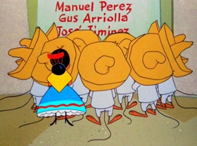 Screenshots from the 1960 Warner Brothers cartoon West of the Pesos