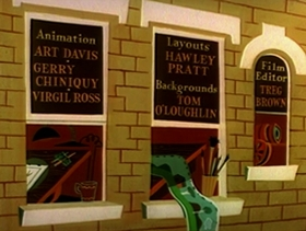Screenshots from the 1960 Warner Brothers cartoon Hyde and Go Tweet