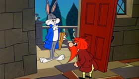 Screenshots from the 1960 Warner Brothers cartoon From Hare to Heir