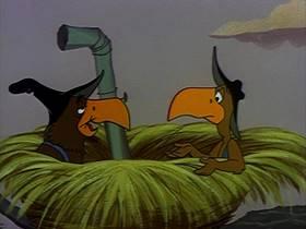 Screenshots from the 1960 Warner Bros. cartoon The Dixie Fryer