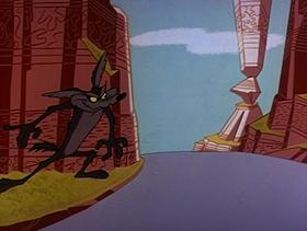 Screenshots from the 1960 Warner Brothers cartoon Hopalong Casualty