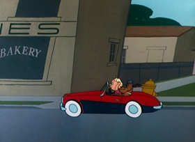 Screenshots from the 1960 Warner Brothers cartoon Dog Gone People