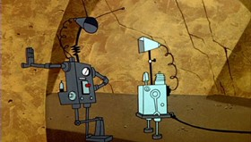 Screenshots from the 1960 Warner Brothers cartoon Lighter Than Hare