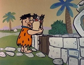 Screenshots from the 1960 Hanna-Barbera cartoon The Swimming Pool