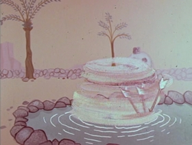 Screenshots from the 1960 Hanna-Barbera cartoon The Flagstones