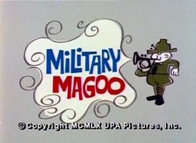Screenshots from the 1960 UPA cartoon Military Magoo