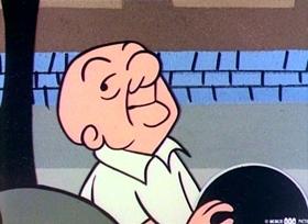 Screenshots from the 1960 UPA cartoon Ten Strike Magoo