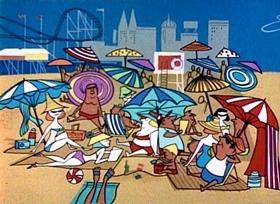 Screenshots from the 1960 UPA cartoon Robinson Crusoe Magoo