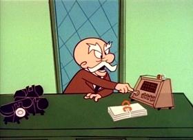 Screenshots from the 1960 UPA cartoon Go West Magoo