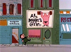 Screenshots from the 1960 UPA cartoon Soft Shoe Magoo