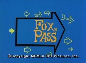 Screenshots from the 1960 UPA cartoon Fox Pass