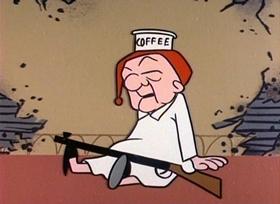 Screenshots from the 1960 UPA cartoon Insomniac Magoo