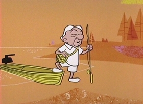 Screenshots from the 1960 UPA cartoon Fish