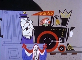 Screenshots from the 1960 UPA cartoon Campaigner Magoo