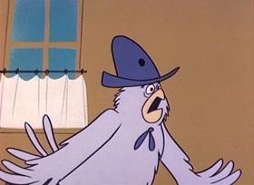 Screenshots from the 1960 UPA cartoon Dangerous Dan Magoo
