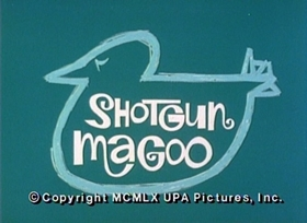 Screenshots from the 1960 UPA cartoon Shotgun Magoo