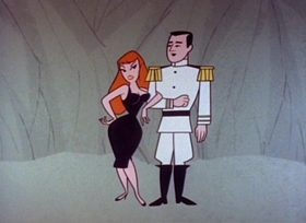 Screenshots from the 1960 UPA cartoon Lady in Black