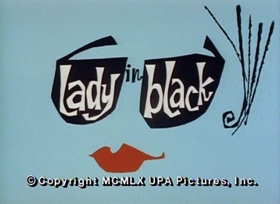 Screenshots from the 1960 UPA cartoon Lady in Black