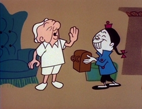 Screenshots from the 1960 UPA cartoon Indoor Outing