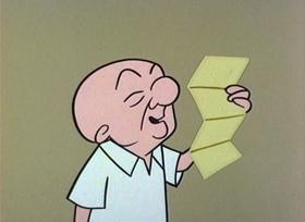 Screenshots from the 1960 UPA cartoon Fixit Magoo